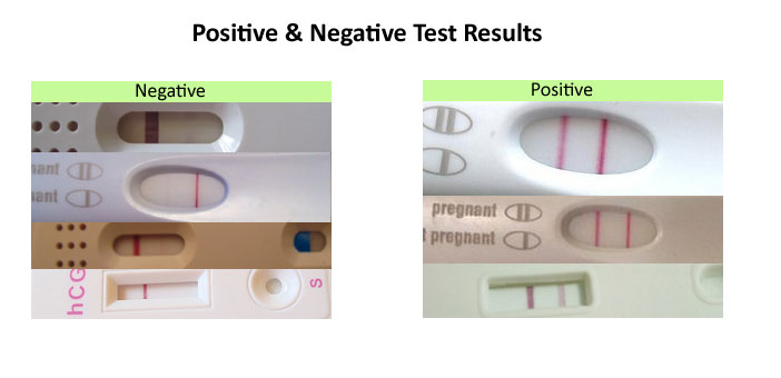 pregnancy test results how to read