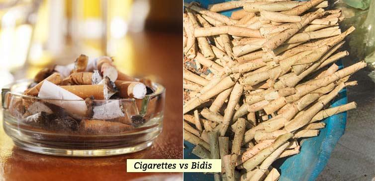Cigarettes vs Bidis